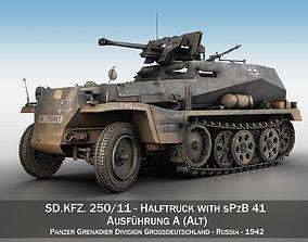 SDKFZ 250 11 - Halftruck with sPzB 41 - PzGrenDiv 3D