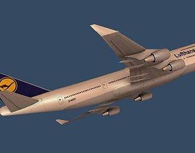 3D asset Boeing 747 Lufthansa