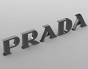 prada logo logotipo 3D model