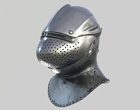 Medieval Armet01 Helmet 3D asset