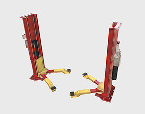 3D model Industrial Hydraulic car lift