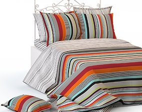 Double bed blanket pillow bedding 3D