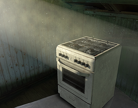 VR / AR ready 3D PBR Stove with texture sets