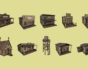 10 Wild West Building Collection - Western Backdrop 3D 1