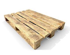 rust 3D asset game-ready Wooden pallet