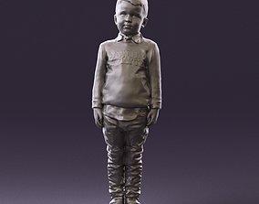 000995 little boy in red sweater 3D Print