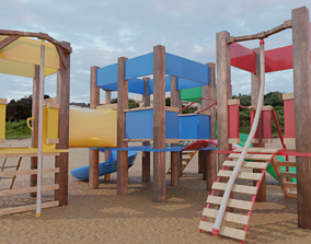 Kids Playground 3D model game-ready