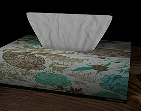 Low Poly Tissue Box 3D model
