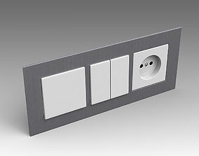 Electrical switch outlet 17 3D model