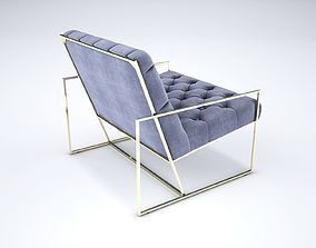 Tufted Thin Frame Lounge Chair 3D model