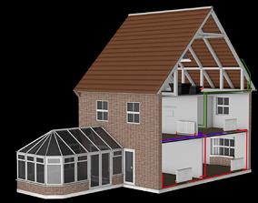 cutaway house 3D model