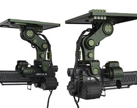 3D model Sci-Fi Security wepon - Turret