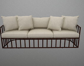 3D model Robert Plum Bella sofa Breton Linen Fabric