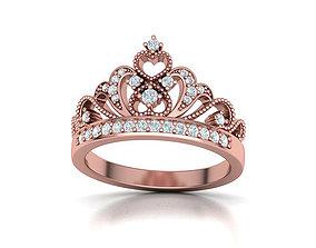 Tiara Crown Ring Princess Hearts Ring 3dmodel
