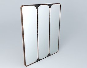 3D model TITOUAN triple mirror houses the world