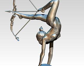 archer warrior girl woman flexible 3D printable model