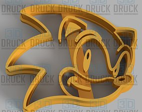 3D print model Sonic Cookie Cutter