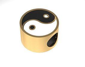 ying yang charm ball 3D printable model