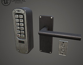 low-poly Keypad Lock Asset
