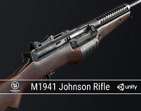 3D asset PBR M1941 Johnson Rifle