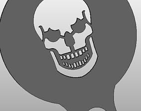 Coffee Stencil - Skull 3D print model