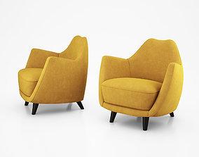 Gio Ponti Transatlantic Lounge Chairs 3D