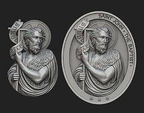 Saint John the Baptist Pendant and 3D printable model