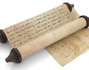 Ancient Scroll 1 3D