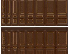 3D model Wood panels with veneer 010