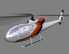 3D model Gazelle V2 Helicopter