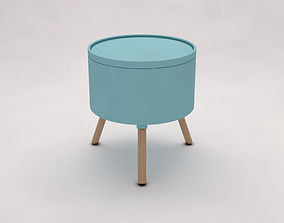 SIDE TABLE---Chest and tripod 3D model