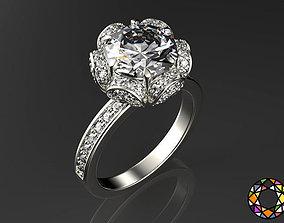 interchangeable 3D printable model Engagement Ring
