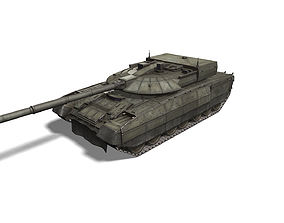 3D asset T-95 Black Eagle tank