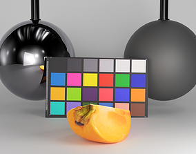 3D model Slice of persimmon 36