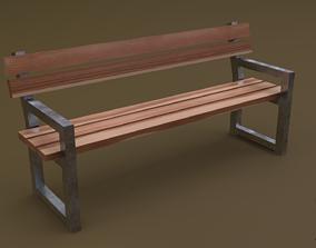 Bench 27 3D asset