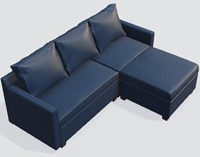 3D asset Three Seater Sofa Blue