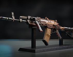 rigged PBR Futuristic AK - AKK27 model gameready