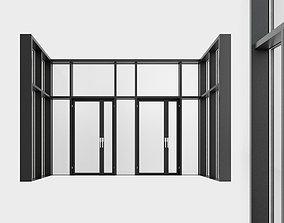 Panoramic windows Door Entrance 8 3D asset