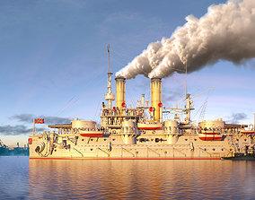 soviet Battleship Petropavlovsk 1899 3D