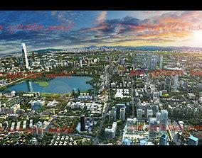 3D model Dusk Scene of Haicheng City
