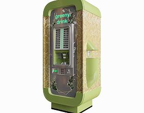 Coffee Vending Machine Greeny 3D