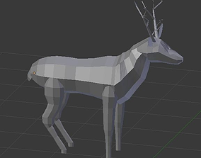 3D print model Deer Low Poly