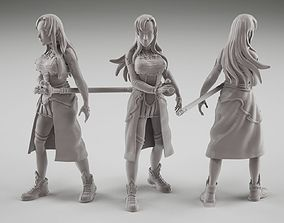 Asuna fanart from online sword art 3D print model