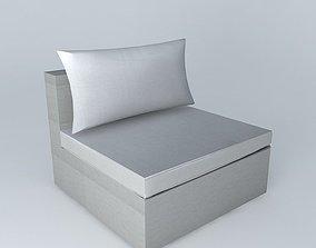 3D Fireside IBIZA light gray