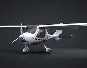 Flight Design CTSW Rigged C4D 3D model