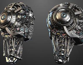 3D model Futuristic Robot Head