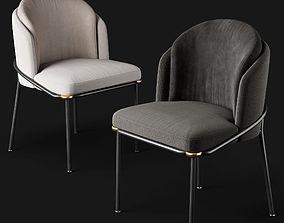 Dining chairs Minotti Fil Noir 3D model