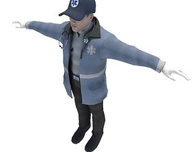 Emergency Medical Technician EMT 3D model