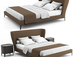 Gentleman Bed By Poliform 3D