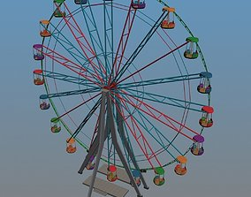 Ferris Wheel 3D model animated